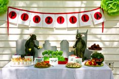 Godzilla b day party. Want.  http://www.apartmenttherapy.com/best-kids-parties-godzilla-my-party-173135