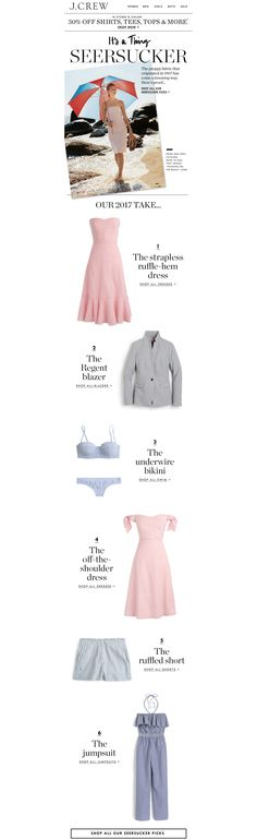 J.Crew Email Newsletter | Product List/Roundup