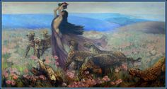 The Bacchante by J. Allen St. John, 1923 - After Arthur Wardle's 1909 painting (Source: Helen of desTroy via Mudwerks