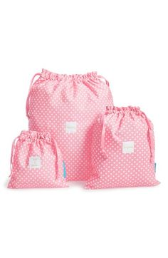 Traveling is a breeze with these 'On the Go' drawstring travel bags.