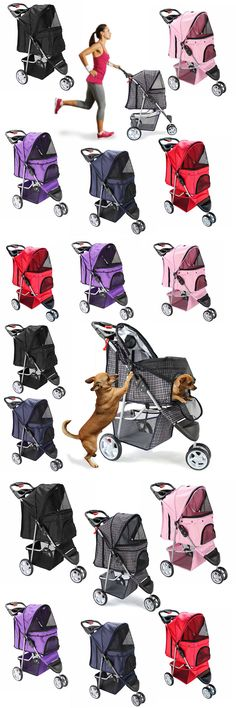 Strollers 116380: Oxgord Pet Stroller Cat Dog 3 Wheel Easy Walk Jogger Travel Folding Carrier -> BUY IT NOW ONLY: $40.95 on eBay!