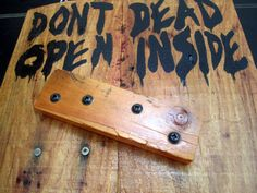 The Walking Dead Sign Zombie Sign. Great as a Halloween decoration for the front door! $35.00