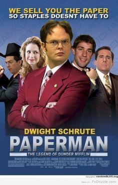 Paperman - starring Dwight Schrute