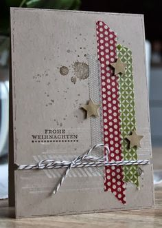 Fienchen´s Stempelwelt: Washi tape and gorgeous grunge ... Could replace the stars with hearts, flowers, butterflies ...