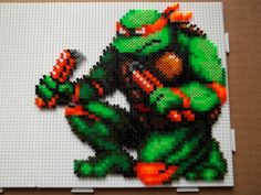 TMNT Michelangelo hama perler beads by The-Original-Kopii on deviantART