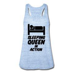 Sleeping Queen in Action - Witzige Shirts und Geschenke, für alle, die gerne schlafen. #schlafen #schlaf #langschläfer #sleeping #queen #königin #faul #faulpelz #faulenzen #erholen #erholung #ruhe #träumen #traum #lustig #sprüche #shirts #geschenke