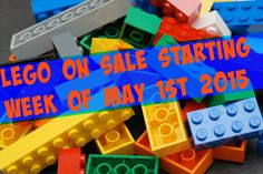 LEGO on sale May 1st 2015