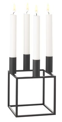 Kubus 4 Candelabra - Reissue 1962 Black by by Lassen - Design furniture and decoration with Made in Design