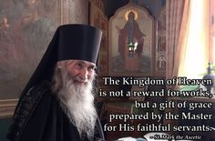 The Kingdom of Heaven is not a reward for works, but a gift of grace prepared by the Master for His faithful servants. Mark the Ascetic Spiritual Words, Spiritual Wisdom, Spiritual People, Christian Memes, Christian Faith, True Faith, Saint Quotes, Orthodox Christianity, Kingdom Of Heaven