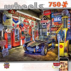 NEW Jigsaw Puzzle 750 Piece Masterpieces WHEELS Jewel of the Garage Cars #MasterPieces