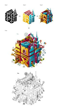 2013 Taiwan Design Expo / Brochure Design by Tu Min-Shiang, via Behance Asian inspired typography and graphic design Design Web, Design Expo, Crea Design, Font Design, Graphic Design Typography, Graphic Art, Design City, Chinese Typography, Isometric Drawing