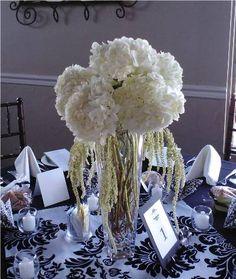White Hydrangea wedding - www.monarchflorist.net
