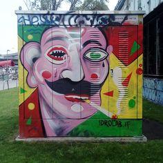 "Gefällt 61 Mal, 1 Kommentare - Wal Mat (@walmatwien) auf Instagram: ""Moustache. Artwork by Idrolab.  #idrolab #igersaustria #at_art #streetartinvienna #graffitiinvienna…"""