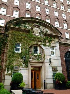 Entrance to John Jay dormitory (freshman dorm) at Columbia University