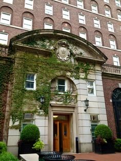 Entrance to John Jay dormitory (freshman dorm) at Columbia University