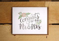 Félicitations à M. & Mme typogravure par 1canoe2 sur Etsy