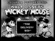 The Delivery Boy (1931) Mickey Mouse. Delivery boy Mickey encounters Minnie washing clothes and singing. He stops for a quick song and dance with her. Meanwhile, Pluto gets tangled up in tar. Mickey sends a beehive flying.