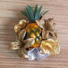 Gold Hawaiian Carmen Miranda Mini Pineapple by VivaDulceMarina