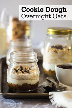This Cookie Dough Overnight Oats make-ahead breakfast recipe is a delicious meal—perfect for on-the-go mornings. Indulge in the sweet flavors of creamy peanut butter, chocolate chips, Quaker® Old Fashioned Oats, and Greek yogurt for a tasty fall treat.