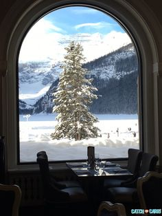 Go skating or admire the frozen lake from your Fairmont Chateau Lake Louise, window, one of the most stunning hotels in Canada  @fairmonthotels #visitCanada #odging #hotelsCanada #luxuryhotels #LakeLouise