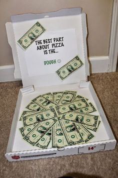 Creative Ways To Give Cash.  Cash Gifts.  Gag Birthday Gifts.  Dominos Pizza Gifts.