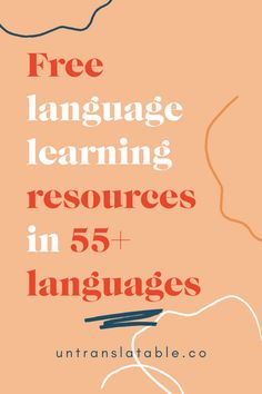 With these free language learning resources you can reach fluency without breaking the bank. Available in over foreign languages. Language Learning Websites, German Language Learning, Learning Courses, Learning Resources, Learning Spanish, Spanish Activities, Learning Italian, Learn Swedish, Learn French
