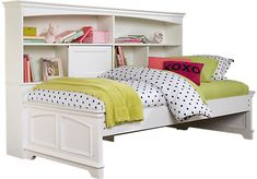 picture of Oberon White 3 Pc Twin Bookcase Daybed from Daybeds Furniture