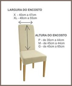 KIT DE 6 UNIDADES Capa para Cadeira Suplex Resistente Furniture Covers, Chair Covers, Table Covers, Parsons Chair Slipcovers, Kitchen Kit, Stylish Chairs, Sewing Box, Chair Upholstery, Floor Chair