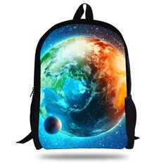 16-Inch Beautiful Kids School Backpack Space Bag For Children Boys Girls Starry Sky Print Backpack For Teenagers Students