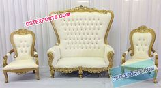 Quinceañera Chair With 2 Side Chairs For The Mother And Father