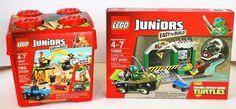 Lego Juniors 2 Sets - TMNT Turtle Lair 10669 & Construction 10667  #LEGO