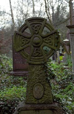 Celtic Cross with Masonic symbol
