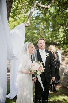 ~ Wind Lost ~ our elegant small June garden wedding outdoor ceremony Garden Wedding, Our Wedding, Outdoor Ceremony, June, Lost, Elegant, Wedding Dresses, Fashion, Dapper Gentleman