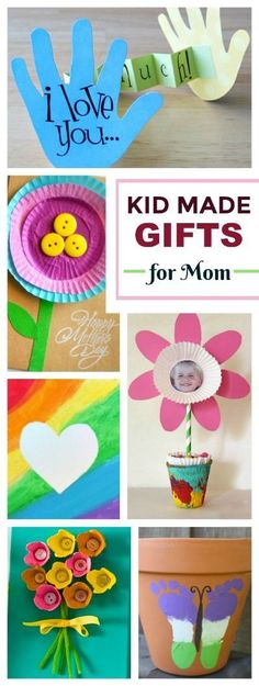 25+ KID-MADE GIFTS FOR MOM (or grandma) These are SO CUTE!!! #kidmadegifts #giftsformoms #kidmade #KidsCrafts