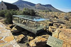 The Karoo National Fossil Trail is a long trail depicting the ecology and paleontology of the Great Karoo. The Central Karoo is situated in the Western Cape and is easily accessible from Cape Town or Johannesburg. Sa Tourism, Provinces Of South Africa, South Afrika, Out Of Africa, African Animals, Africa Travel, Countries Of The World, Cape Town, Small Towns