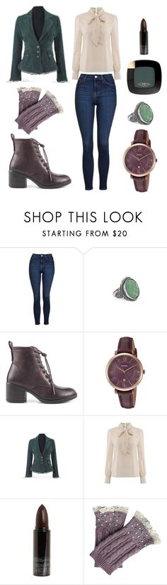 """""""Preppy Autumn Outfit"""" by katarina-mattmuller on Polyvore featuring Topshop, London Rag, FOSSIL, Serge Lutens, L'Oréal Paris and vintage"""