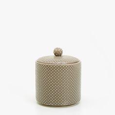 Ceramic jar with dots -    Zara Home United Kingdom