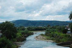 Rzeka Kamienica wpada do Dunajca