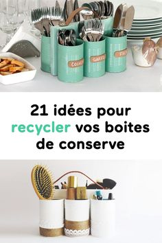 21 ideas for recycling your cans - nimivo sites Tin Can Crafts, Crafts To Sell, Home Crafts, Diy And Crafts, Best Selling Cookbooks, Diy Room Decor, Wall Decor, Recycling, Own Home