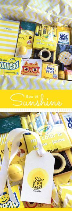 Box of Sunshine & DIY Watercolor Gift Tag