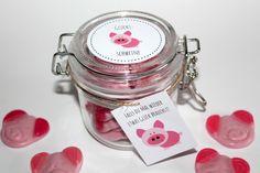 DIY Geschenke aus dem Glas Glücksschweine + Free Printable   DIYCarinchen