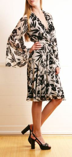 Black & White Print Dress.