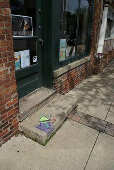 david+zinn+sidewalk+art   70+ Sidewalk Chalk Art Of Sluggo By David Zinn   Amazing Street Art ...