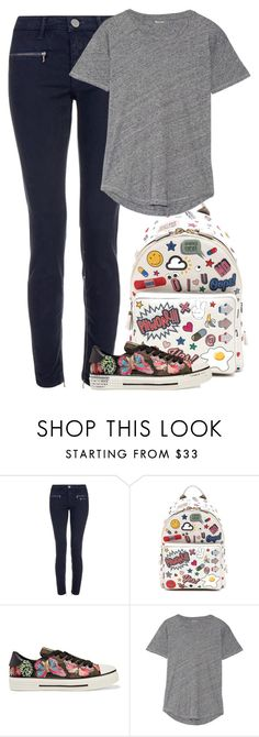 """""""Sem título #9839"""" by fanny483 ❤ liked on Polyvore featuring dVb Victoria Beckham, Anya Hindmarch, Valentino and Madewell"""