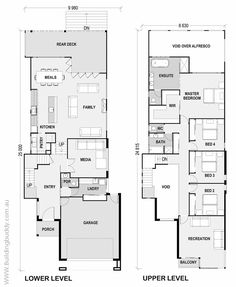 Protea - Small Lot House Floorplan by http://www.buildingbuddy.com.au/home-designs-main/small-lot-house-plans/