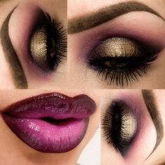 Love the eye make up Gorgeous Makeup, Love Makeup, Makeup Inspo, Makeup Inspiration, Makeup Tips, Makeup Looks, Makeup Ideas, Purple Makeup, Purple Lips