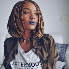 Short Bob Braids Hairstyles and Haircuts for Women 2019 Amazing Short Box Braids Hairstyles 2017 Short Bob Braids, Short Box Braids Hairstyles, Bob Box Braids Styles, Box Braids Styling, Black Women Hairstyles, Braid Styles, Curly Hair Styles, Natural Hair Styles, Hairstyle Braid