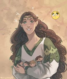 Yavanna and her hobbits (you can't tell me hobbits aren't the work of Yavanna they have her name all over them just look at how much they love food and nature and good simple things)