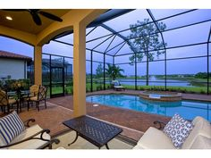 Pool - Blue Hour - Treviso Bay - Melinda Gunther Naples Realtor Keep the pecan leaves, nuts out