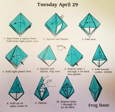 Origami Frog Base Diagram
